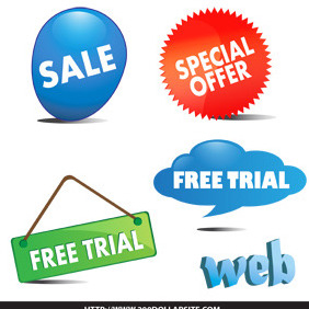Free Trial Website - vector gratuit #206331
