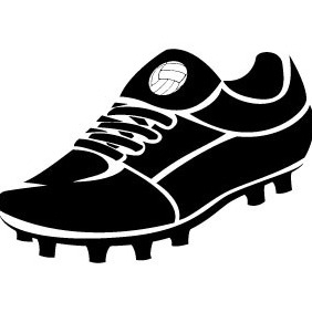 Football Shoe Vector - Kostenloses vector #206401