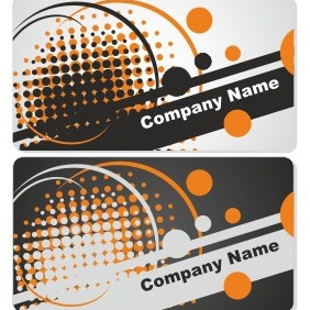 abstrait business card set - vector gratuit #206521