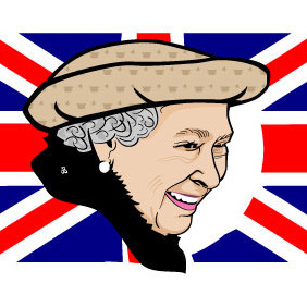 Queen Elizabeth II Vector Portrait - vector #206611 gratis