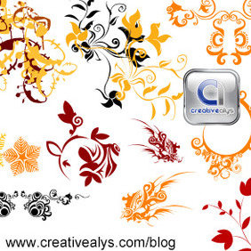 Floras For Logo Design - Kostenloses vector #206691