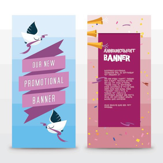 Announcement Banners - Free vector #206871