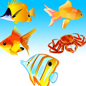 Free Vector Fish Icons - vector #206971 gratis