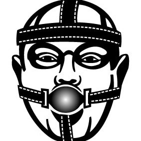Rubber Face Mask - vector gratuit #207091