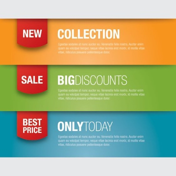 Promotion Banners - Kostenloses vector #207181