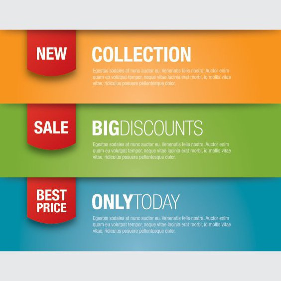 Promotion Banners - Free vector #207181