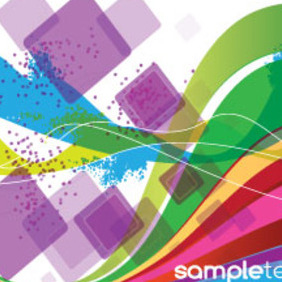 Colored Abstract Lines In Squars Background - Kostenloses vector #207231