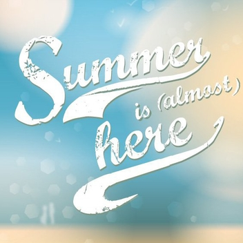 Summer Is Almost Here - Free vector #207291