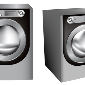 Realistic Washer - vector #207331 gratis