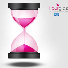 Sand Clock Hourglass Icon - Free vector #207431