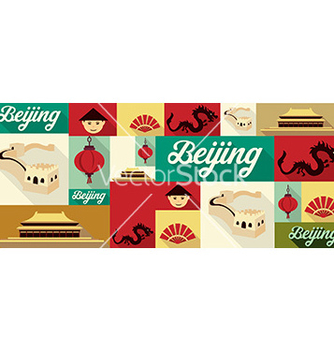 Free travel and tourism icons beijing vector - Free vector #207531
