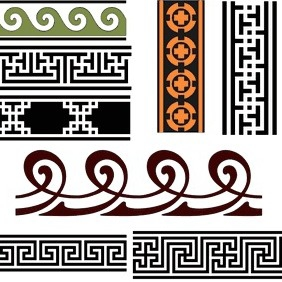 Band Vector Patterns - vector gratuit #207671