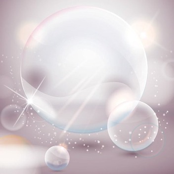 Crystal Bubbles - Free vector #207681