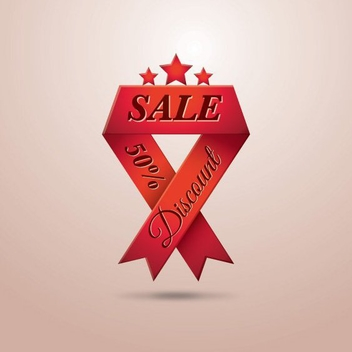 Sale Ribbon - vector gratuit #207691