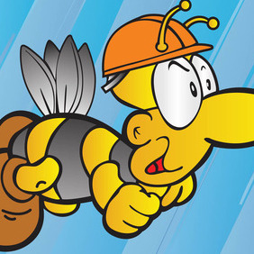 Bee Cartoon - vector gratuit #207771