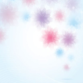 Blurred Floral Background - Kostenloses vector #207811