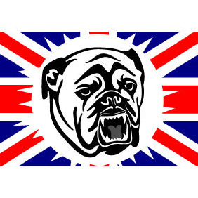 Bulldog & British Flag - vector gratuit #207831