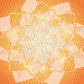 Orange Floral Ornament Free Vector Design - vector gratuit #207881