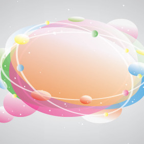 Space Speech Baloon Banner - vector gratuit #207951