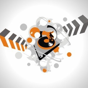 Dj Turntable Background - vector #208221 gratis