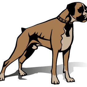 Boxer Dog Vector Image - Free vector #208231