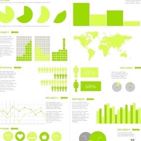 Infographics Template - vector #208271 gratis