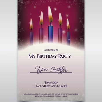 Birthday Party Card - Free vector #208281