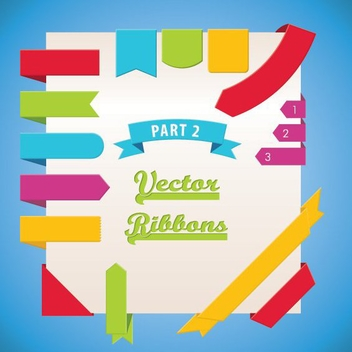 Vector Ribbons Part 2 - vector #208301 gratis