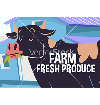Free cartoon cow vector - бесплатный vector #208351