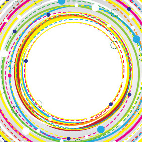 Colorful Circle Banner Background - Free vector #208381