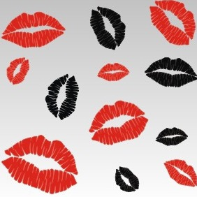Sexy Lip Kisses - vector gratuit #208471