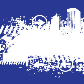 White City Splash Banner - vector gratuit #208501