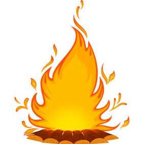 Bonfire Illustration - Free vector #208581
