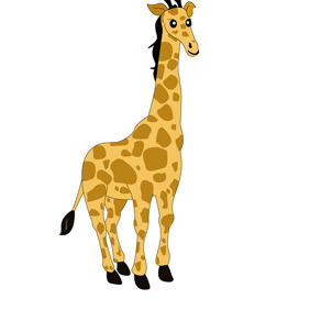 Giraffe Cartoon Character- Free Vector. - бесплатный vector #208661