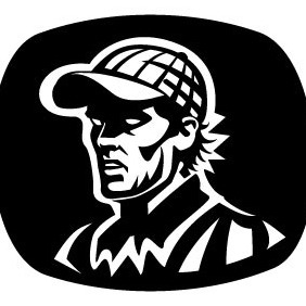 Man With Cap - vector gratuit #208701