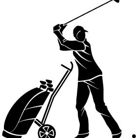 Golf Player Vector Image - бесплатный vector #208751