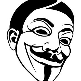 Guy Fawkes Vector Image - бесплатный vector #208761