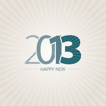 Happy New 2013 - vector gratuit #208841