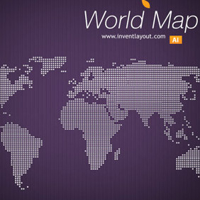 World Map - Invent - vector #208951 gratis