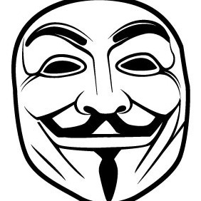 Anonymous Mask Vector - vector gratuit #209051