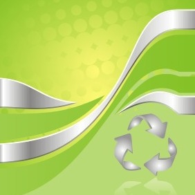 Green Recycling Background - vector gratuit #209071