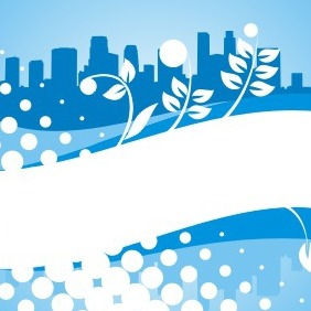 Blue City Background - vector gratuit #209131