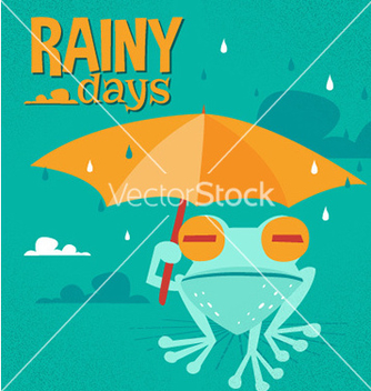 Free rainy days cartoon vector - vector gratuit #209181