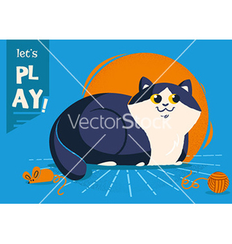Free cartoon cat vector - бесплатный vector #209231