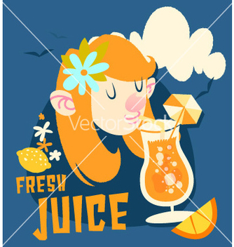 Free cartoon summer drink design vector - vector gratuit #209301