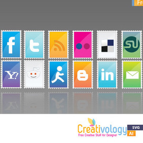 Free Stamp Social Icon Pack - Free vector #209311