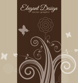 Elegant Brown Design - vector gratuit #209321
