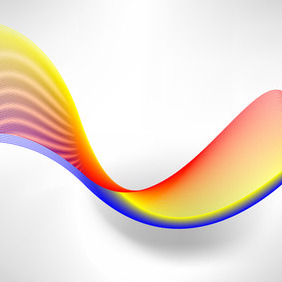 Colorful Line Flow - vector gratuit #209341