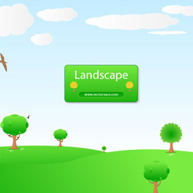Landscape Background Illustration By Vectorvaco.com - бесплатный vector #209351