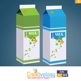 Free Milk Box Vector - бесплатный vector #209381